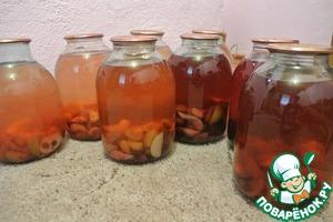 Рецепт Фруктовый напиток на зиму