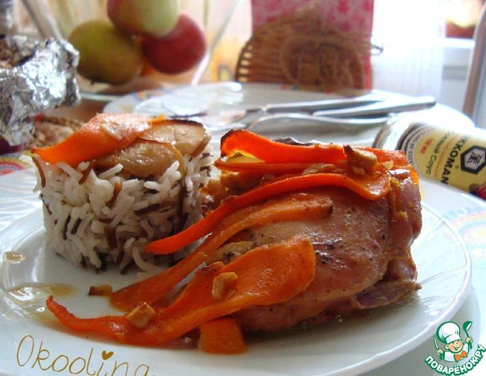 Рецепт: Курица в соевом соусе с яблоком и морковью