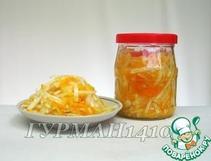 Рецепт Быстрая квашеная капуста с апельсином