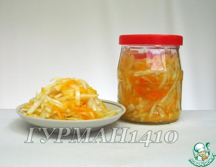 Рецепт: Быстрая квашеная капуста с апельсином