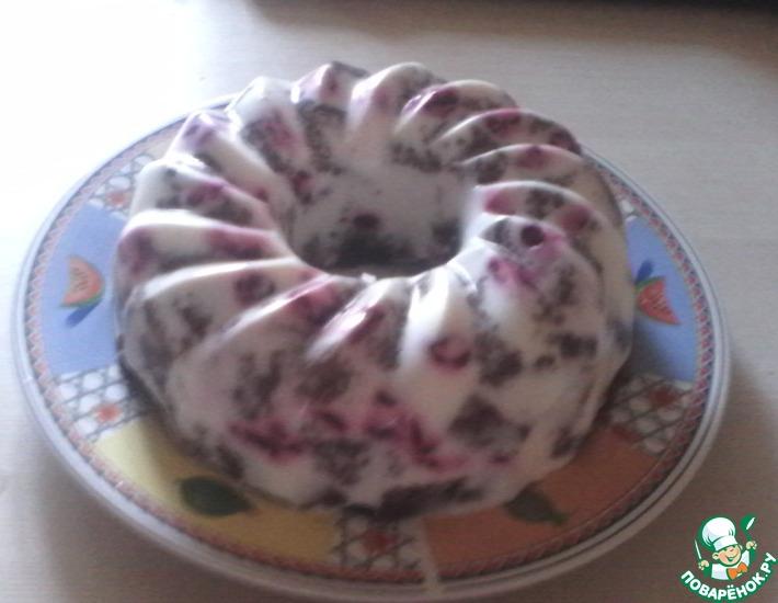 Рецепт: Десерт Вишня с шоколадом