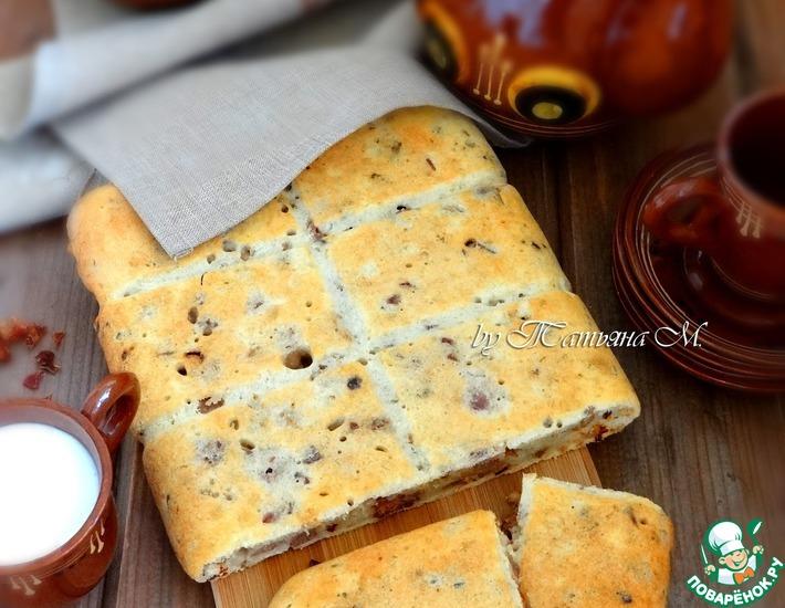 Рецепт: Закусочный пирог с уткой и паприкой
