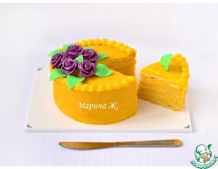 Рецепт: Тыквенный торт Мильфей