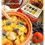 Рагу в горшочке в сливочно-томатном соусе