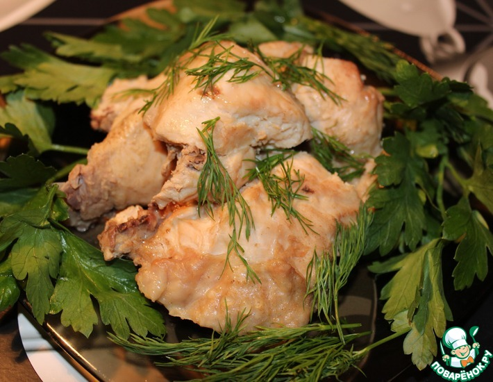 Рецепт: Курица в горчично-соевом соусе Вкуснейшая