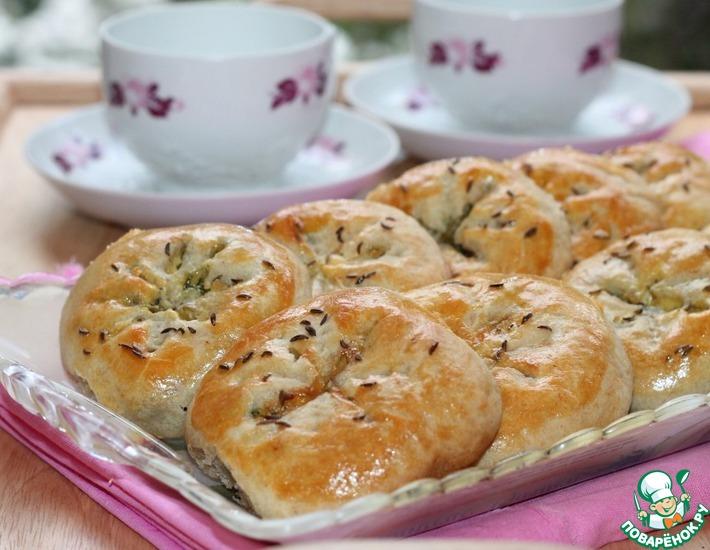 Рецепт: Булочки на кефире с оливками