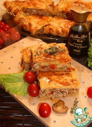 Рецепт Мясной пирог с ароматными добавками