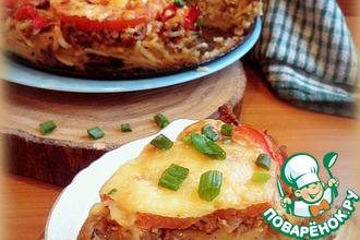 Рецепт: Запеканка Спагетти-пицца