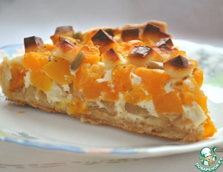 Рецепт: Сырно-тыквенный пирог