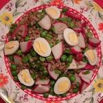Салат с гречкой и редисом