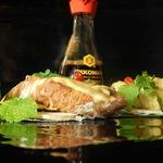 Горячие бутерброды с шампиньонами в соевом соусе