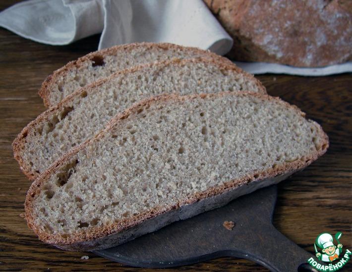 Рецепт: Быстрый полбяной хлеб на закваске