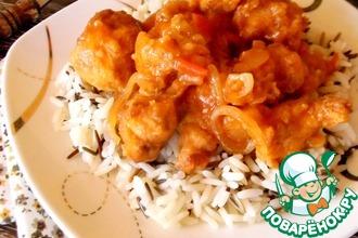 Рецепт: Курица в кляре и сладко-остром соусе
