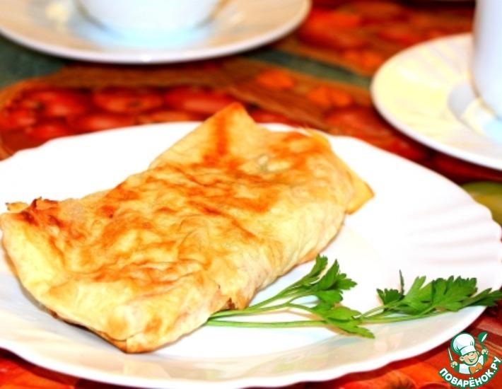 Рецепт: Буррито по-русски с капустой