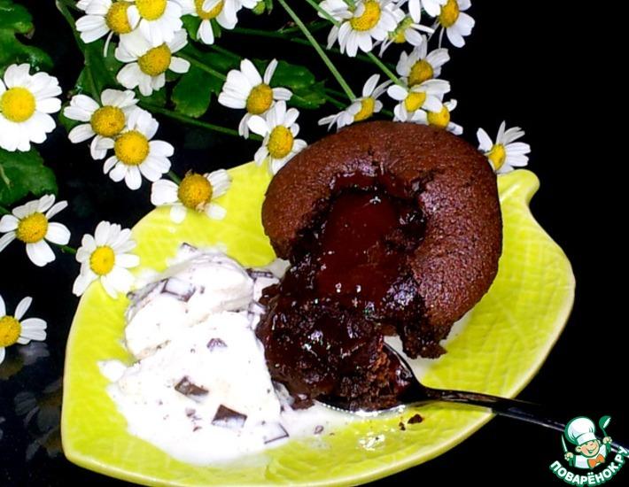 Рецепт: Шоколадный фондан из рисовой муки
