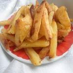 Картофель фри, запеченный с яичным белком