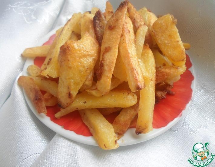 Рецепт: Картофель фри, запеченный с яичным белком