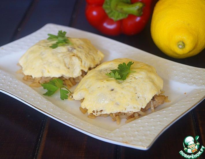 Рецепт: Рис с курицей по мотивам омлета Оякодон