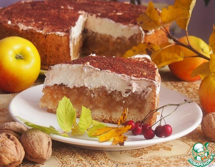 Рецепт: Богатый яблочный пирог с сидром