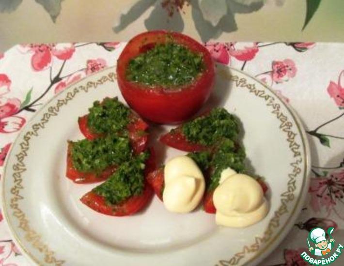 Рецепт: Помидоры с петрушкой и чесноком по-провансальски