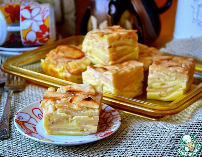 Рецепт: Яблочно-молочные пирожные