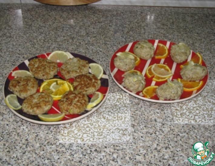 Рецепт: Котлеты из щуки с кедровыми орешками