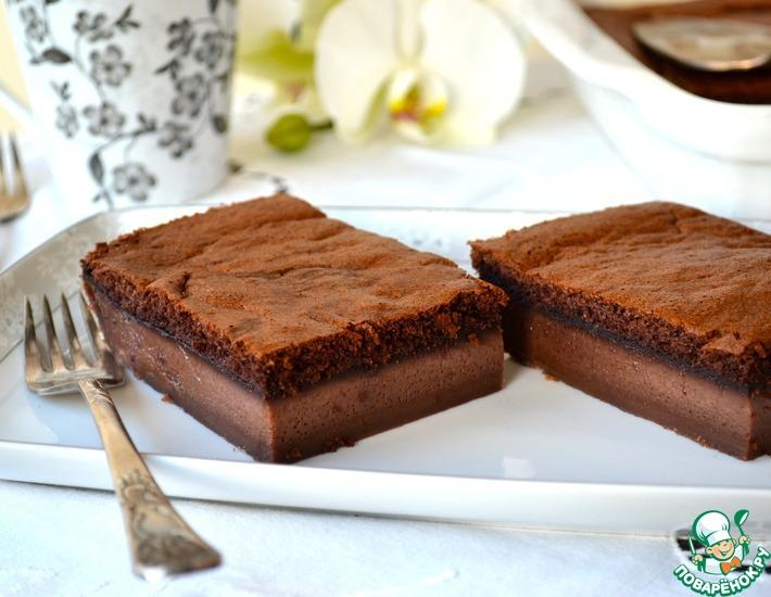 Рецепт: Волшебный шоколадный десерт