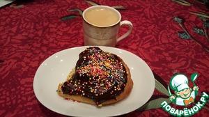 Рецепт Бисквитный бутерброд с двойным шоколадом к кофе