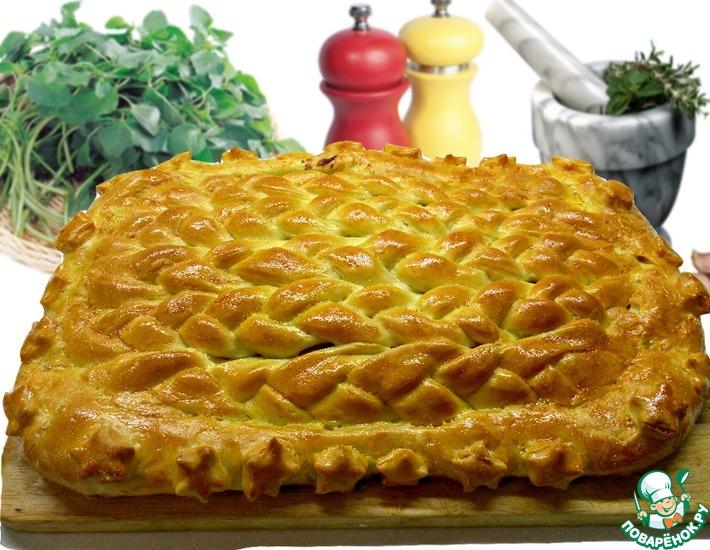 Рецепт: Домашний плетенный пирог