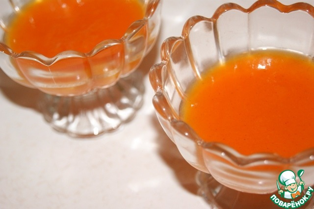 Двухслойный мусс из тыквы и йогурта