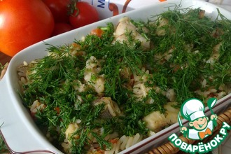 Рецепт: Тушеная рыба с рисом