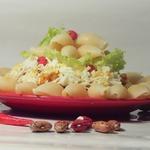 Каша из риса с шампиньонами и фасолью