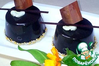 Рецепт: Основа с белым шоколадом для пирожного Чёрный принц