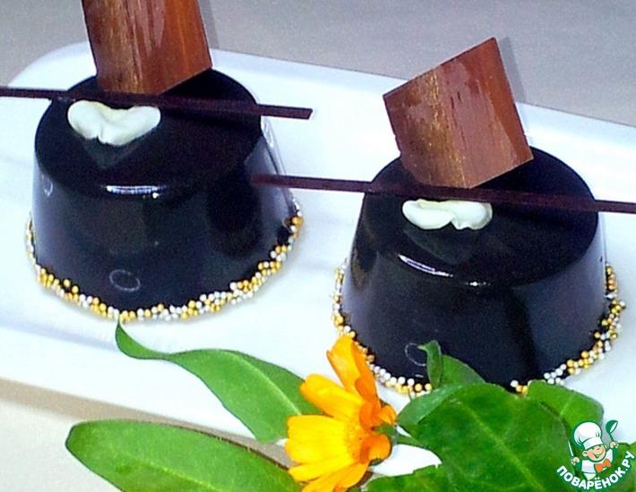 """Основа с белым шоколадом для пирожного """"Чёрный принц"""""""