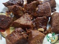 Печень с маринованным луком на блинах ингредиенты