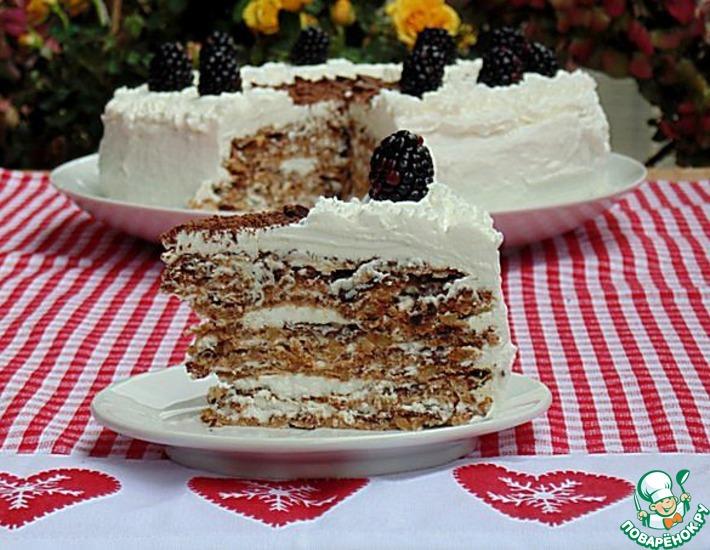 Рецепт: Итальянский торт Грецкий орешек