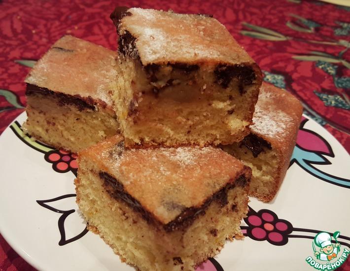 Рецепт: Апельсиновый пирог с шоколадом и бананом