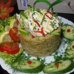 Отварная скумбрия с рисом