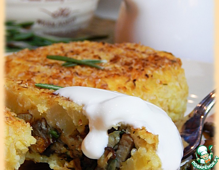 Рецепт: Пшенно-картофельные зразы с грибами