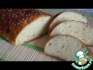 Рецепт Батон на кефире с оливковым маслом