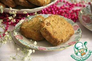 Рецепт Бисквитное печенье с орехами