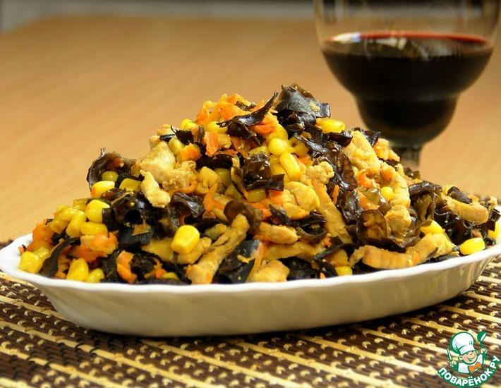 салат с древесными грибами рецепт с фото