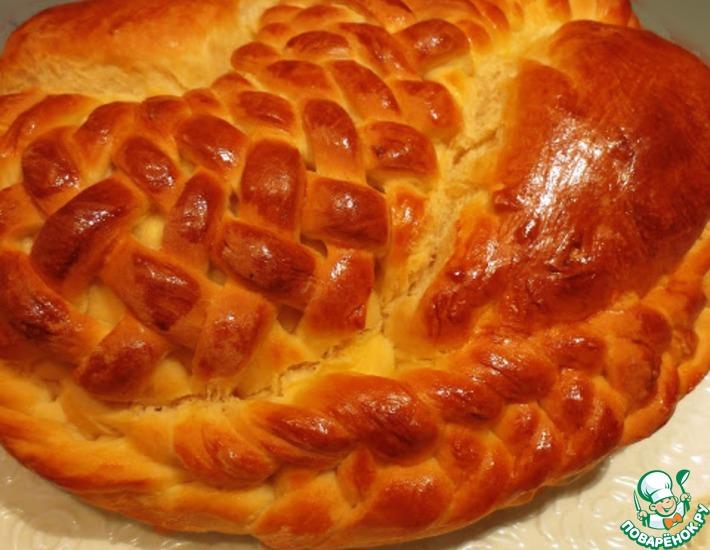 Рецепт: Пирог с начинкой из бекона и сыра