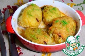 Рецепт: Фаршированные котлеты в картофельной шубе