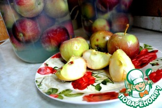 Рецепт: Моченые яблоки Домашние