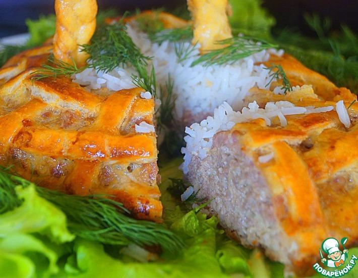 Рецепт: Мясная корзинка Лесная полянка