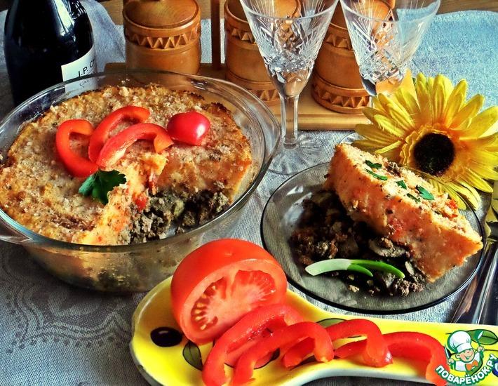 Рецепт: Печень под овощным пюре
