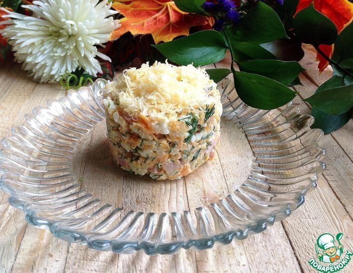 Рецепт: Салат с ветчиной Нежность