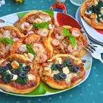 Пицетты рыбные и овощные