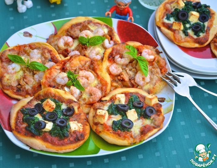 Рецепт: Пицетты рыбные и овощные